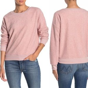 Socialite Nordstrom | Pink Faux Fur Sweatshirt